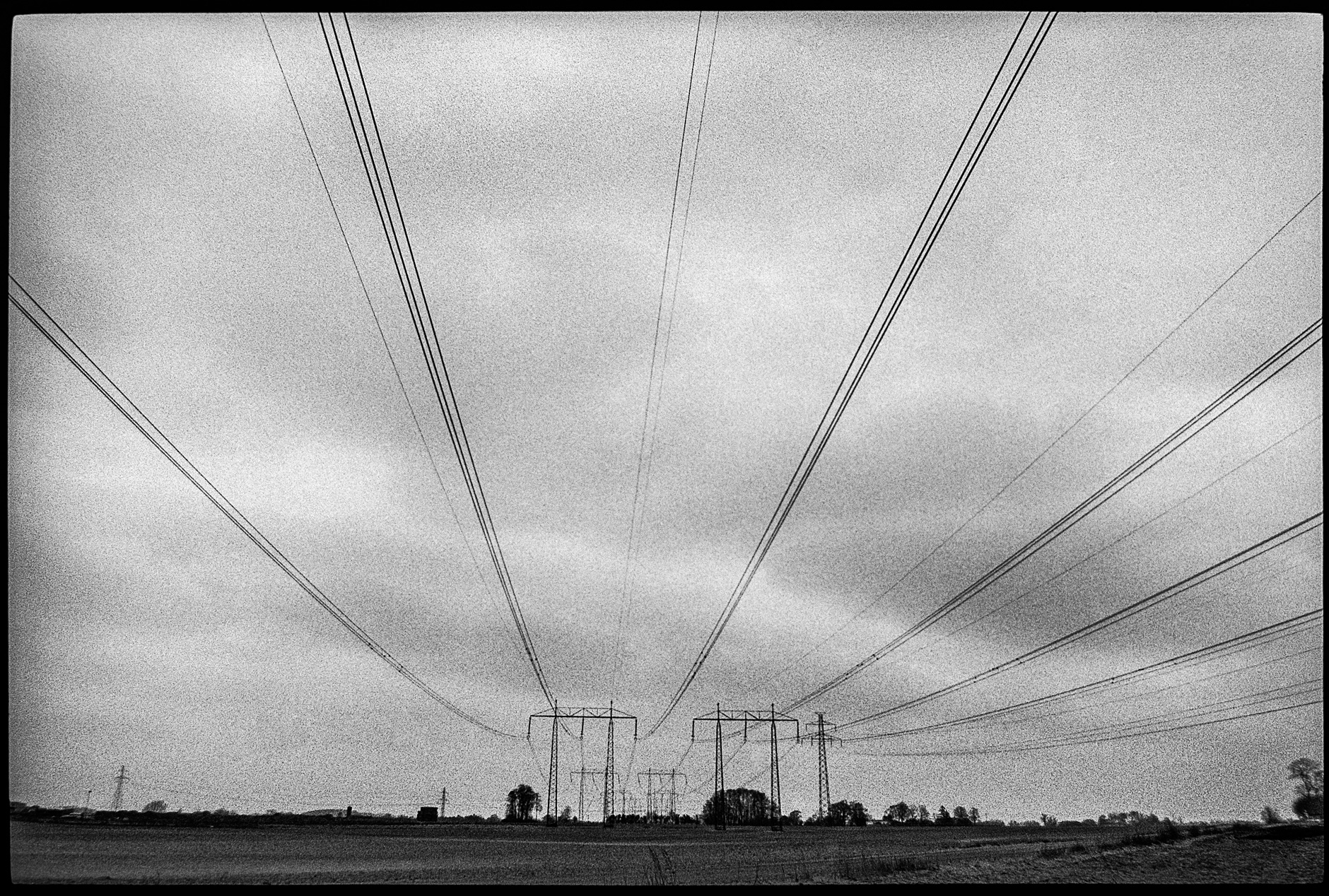 Electrical poles in Skåne, Sweden