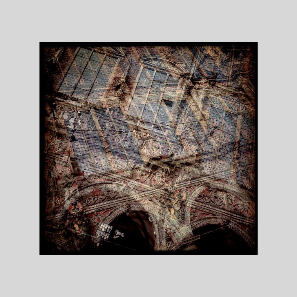 Multi exposure image in color 6x6 negative