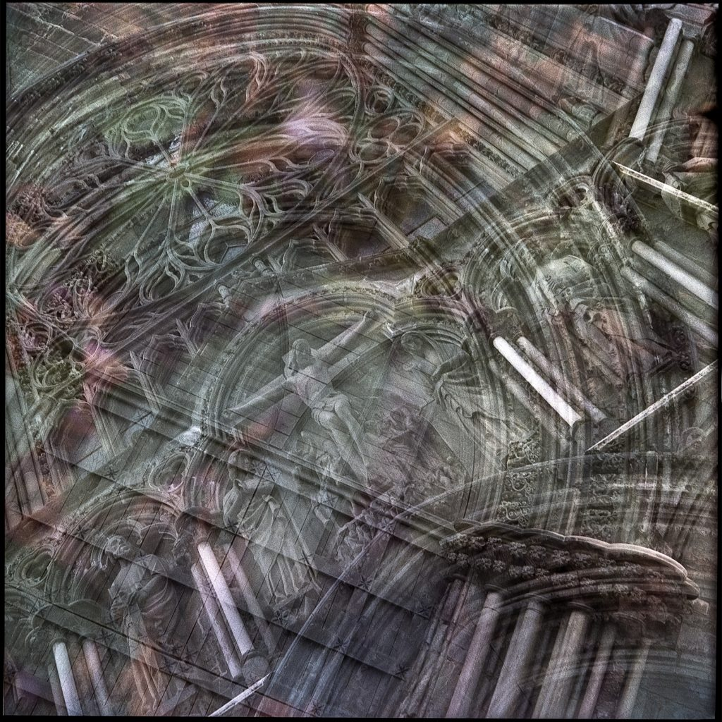 Multiple exposure of the Nidaros Cathedral