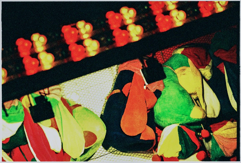 Cross processed color image of Lottery prices Norrköping, Sweden